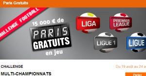 PMU : Challenge football, 15.000 euros en jeu