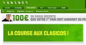 Unibet : Concours billets clasico