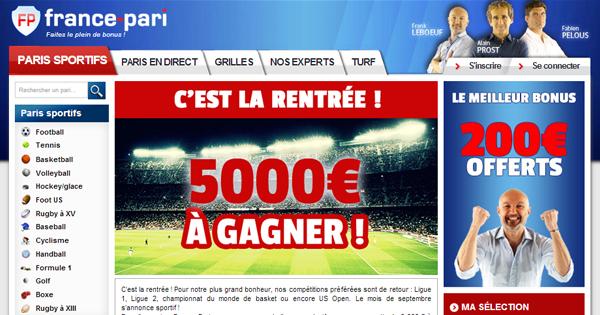 France Pari : Concours à 5000 euros