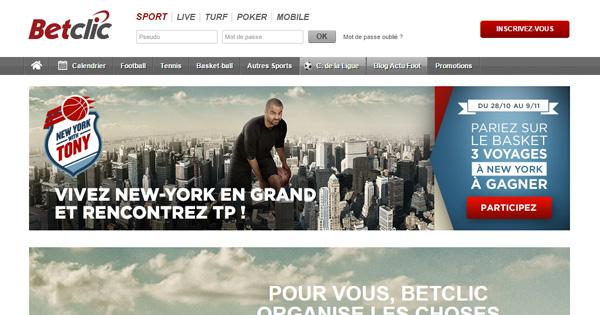 BetClic : Tirage au sort avec Tony Parker