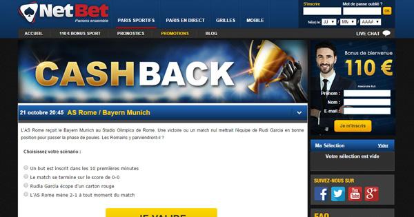 Cashback Netbet