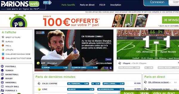 ParionsWeb : 75€ de bonus sur les combinés
