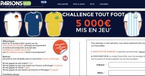 ParionsWeb : Challenge Tout Foot
