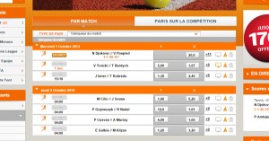 PMU : ATP Pékin, tournoi de tennis