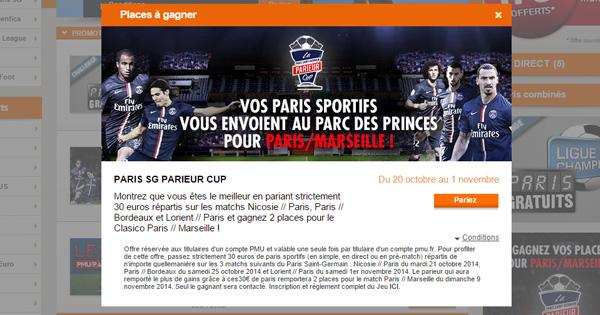 PMU : PSG Parieur Cup