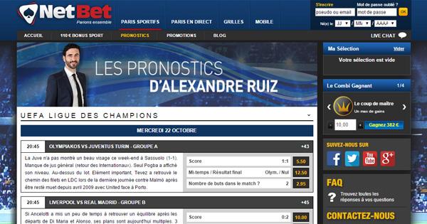 Pronostics Alexandre Ruiz sur Netbet