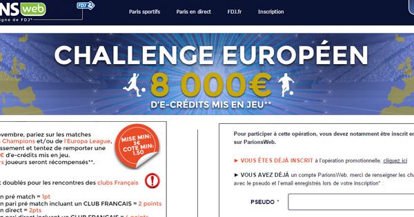 ParionsWeb, Challenge européen