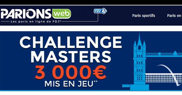 ParionsWeb : Masters de tennis de Londres