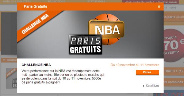 PMU Challenge NBA