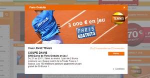 PMU : Concours sur la Coupe Davis