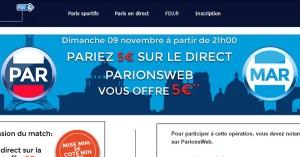 PSG OM : ParionsWeb offre 5 euros