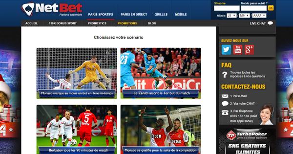 Cash Back Netbet : AS Monaco - Zénith