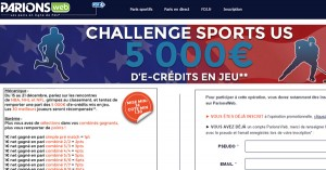 ParionsWeb : Challenge Sports US