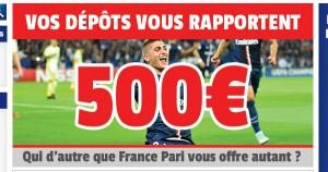 France Pari et le bonus à 500 euros