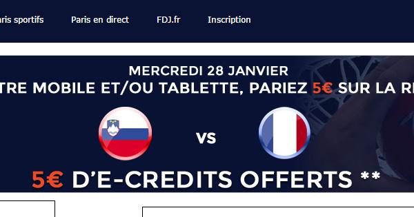 Bonus ParionsWeb sur France Slovénie