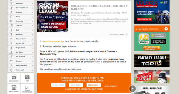 PMU : Premier League
