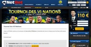 Netbet et les VI Nations