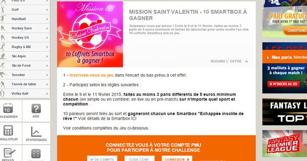 PMU et la promo Saint Valentin