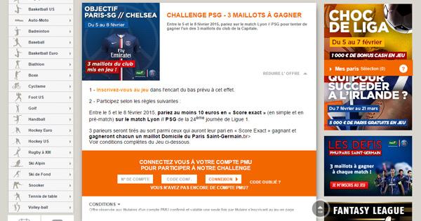 PMU : 3 maillots pour Lyon PSG