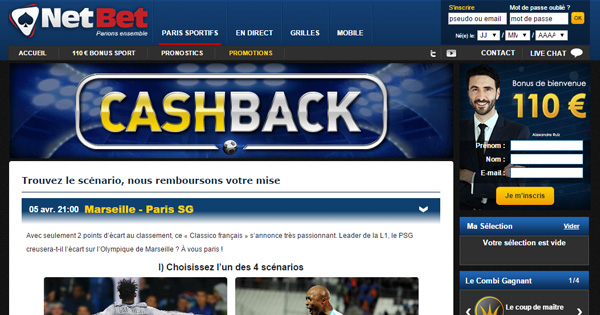 Cash Back Netbet