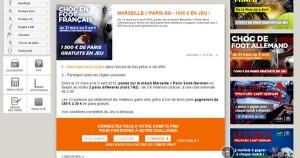 Marseille PSG chez PMU