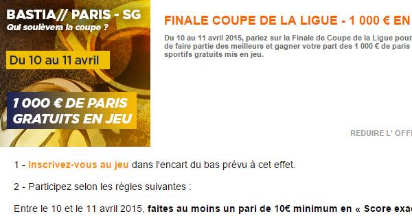 PMU et la Coupe de la Ligue 2015