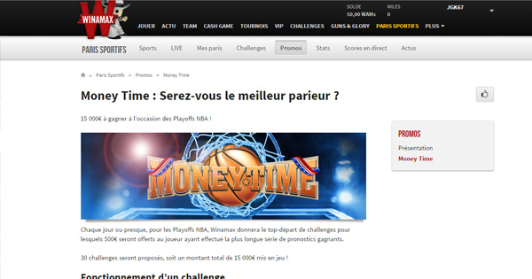 Money Time chez Winamax !