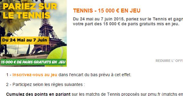 PMU et Roland Garros