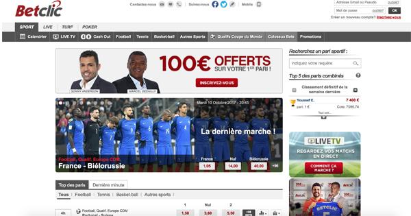 Bonus Paris Sportif Betclic