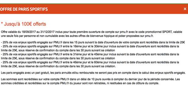 Bonus Paris Sportif PMU