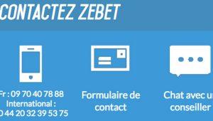 Contacter Zebet