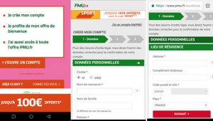 Inscription mobile PMU
