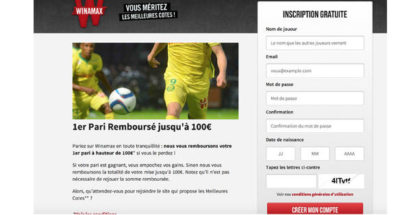 Ouvrir compte Winamax
