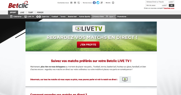 Live Tv Betclic