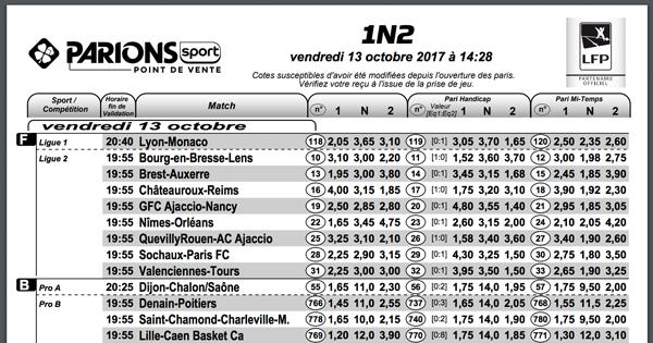 Liste parions sport pdf de la fdj grille parionssport - Grille pdf parions sport pronostic ...