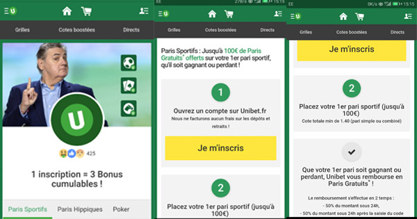 Ouvrir compte Mobile Unibet